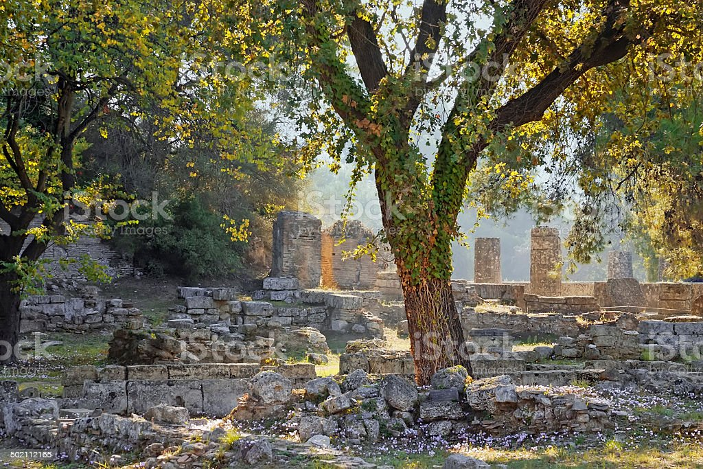 Archaeological Site of Olympia, Greece. stock photo