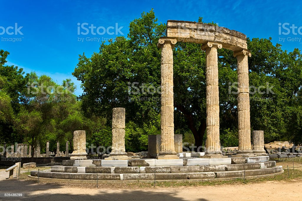 Archaeological Site of Olympia stock photo