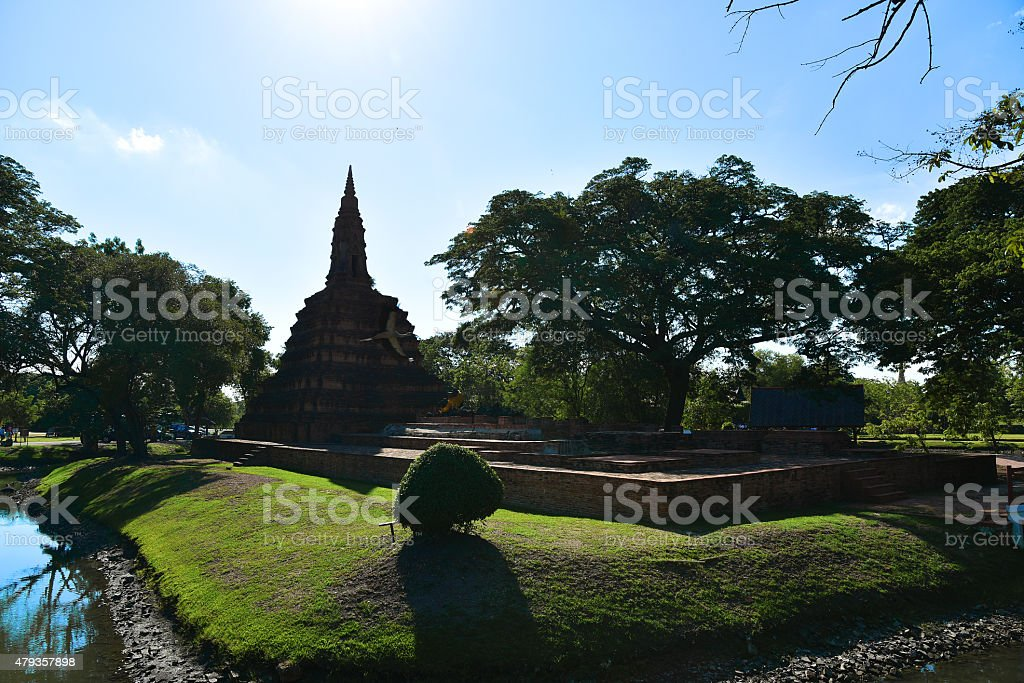 Archaeological site stock photo