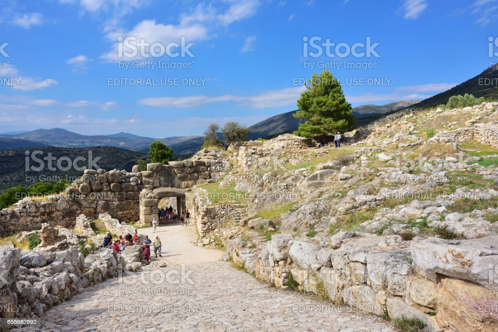 Archaeological sites of Mycenae and Tiryns, Greece stock photo