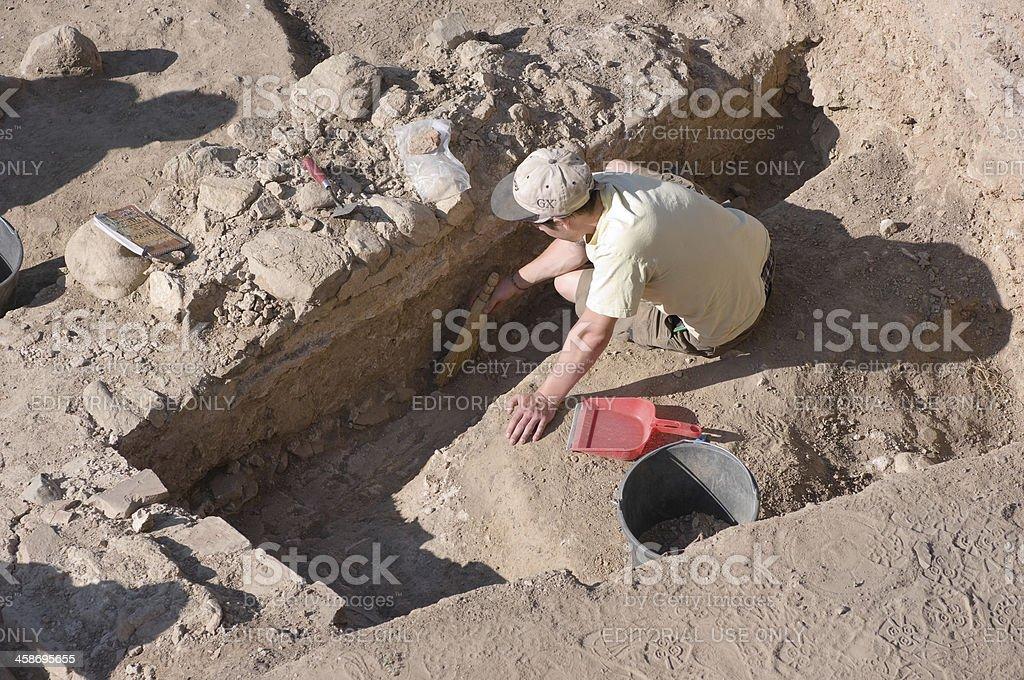 Archaeologist In Heraclea Lyncestis Excavation, Bitola - Macedonia Republic stock photo