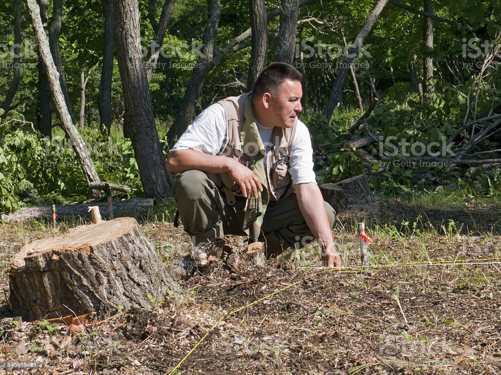 Archaeologist stock photo
