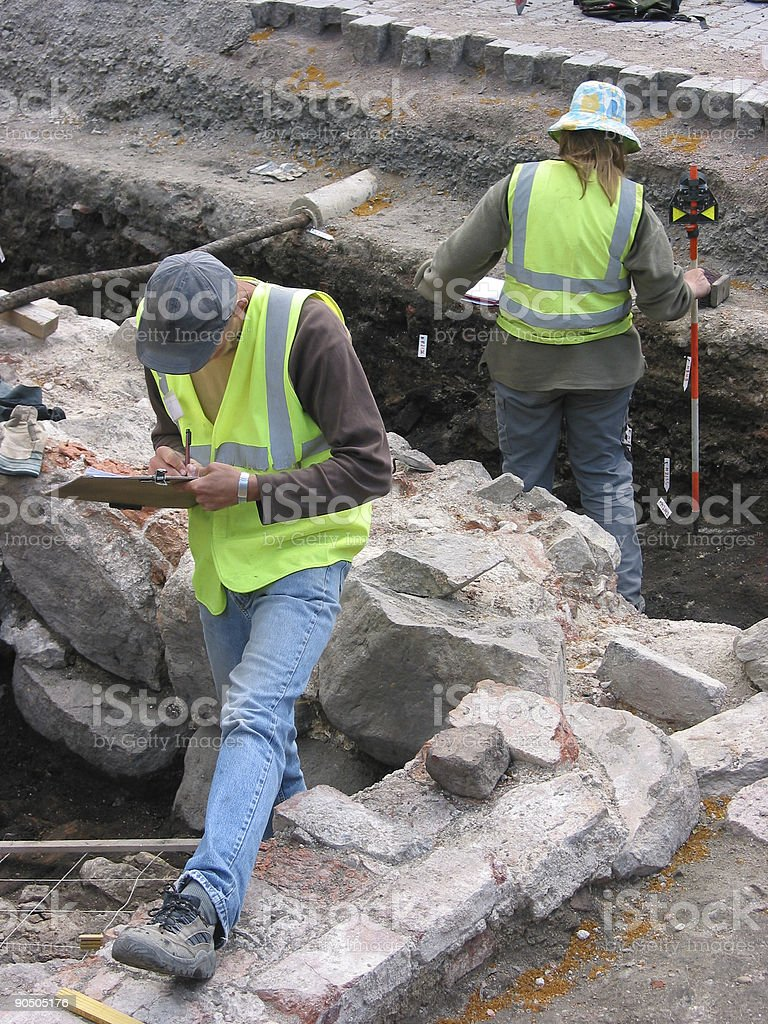 Archaeologists royalty-free stock photo