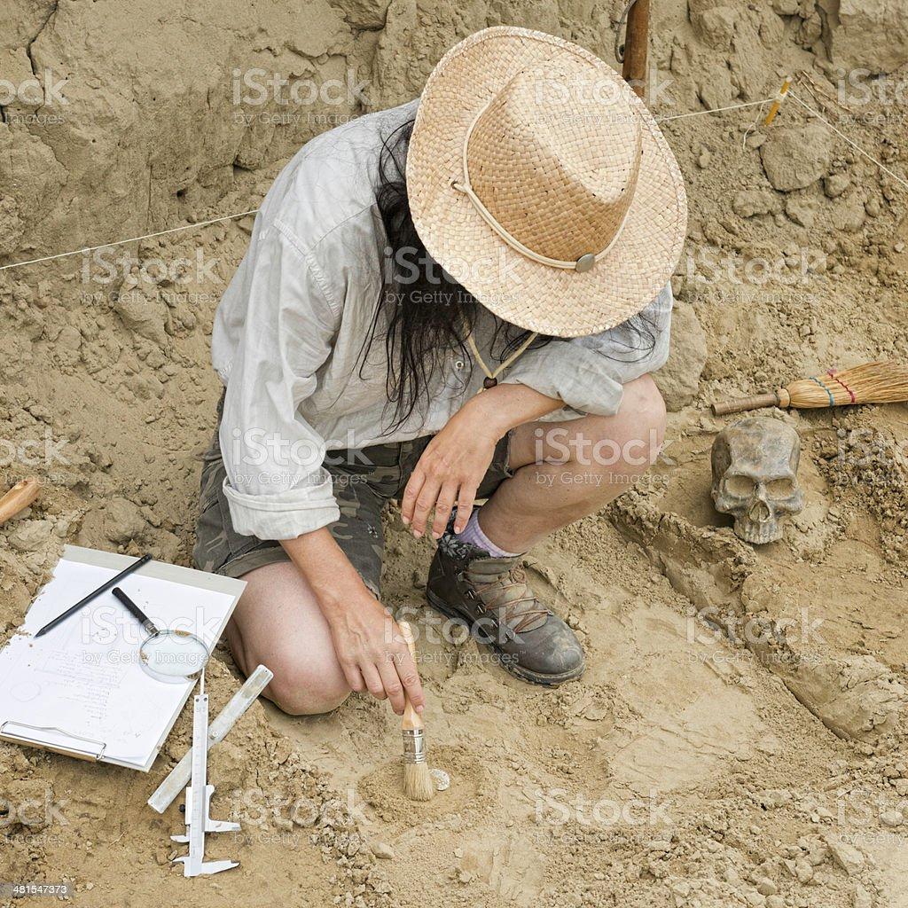 Archaeology stock photo