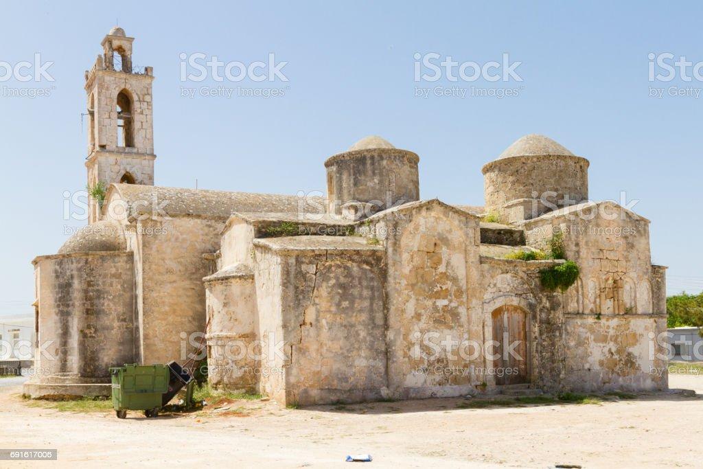 Archaggelos Michael Church in Yialousa, Karpasia, Cyprus- old church view stock photo