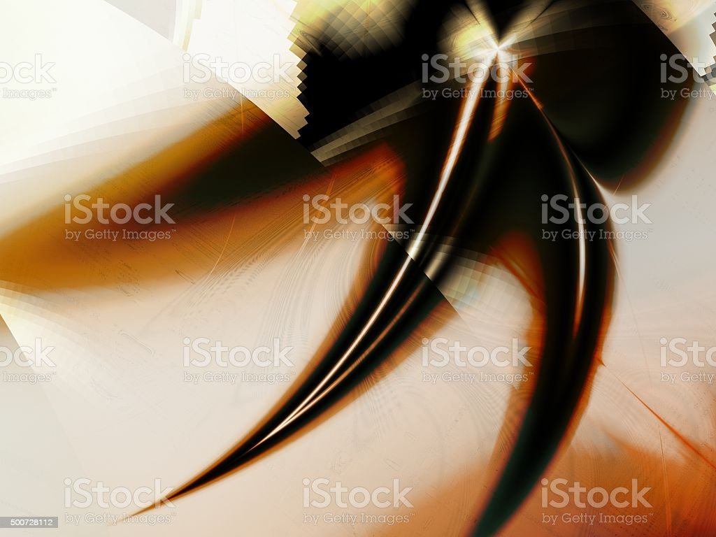 Archaic Claw Minimalist Abstract Artwork stock photo
