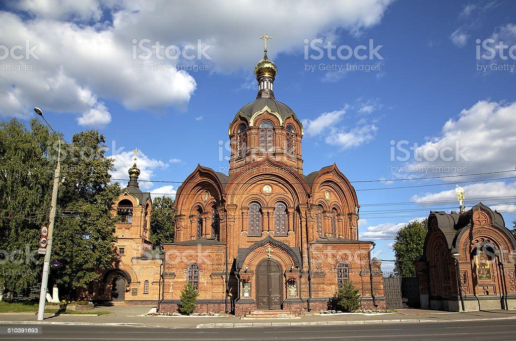 Archangel Michael church. Vladimir, Golden ring of Russia. stock photo