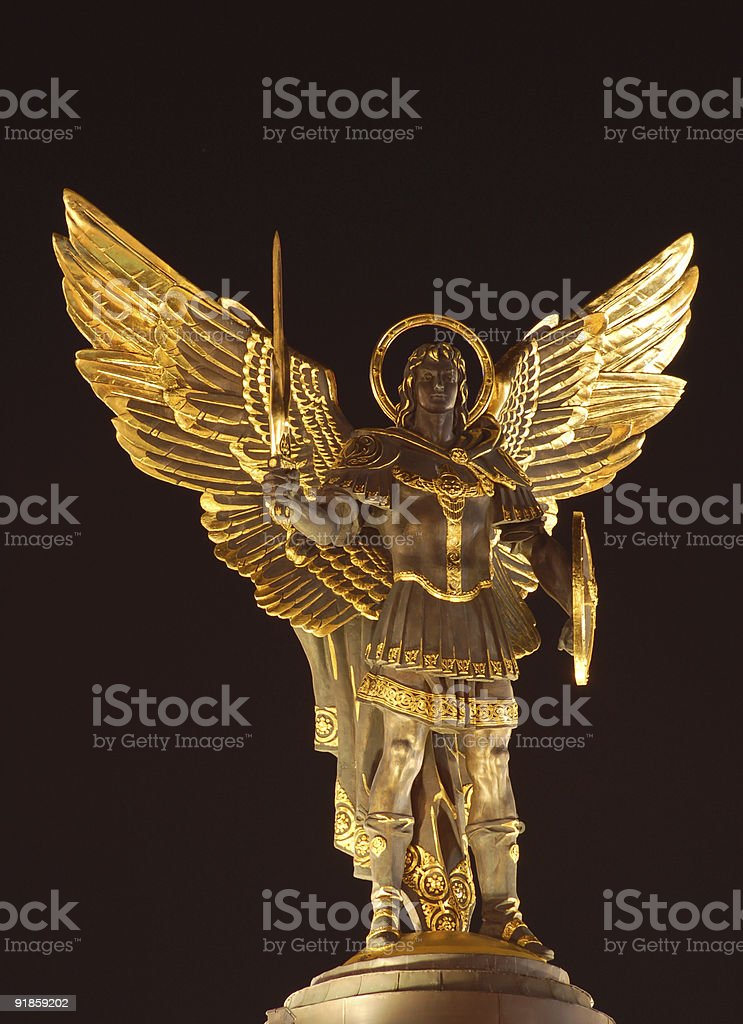Archangel Michael stock photo