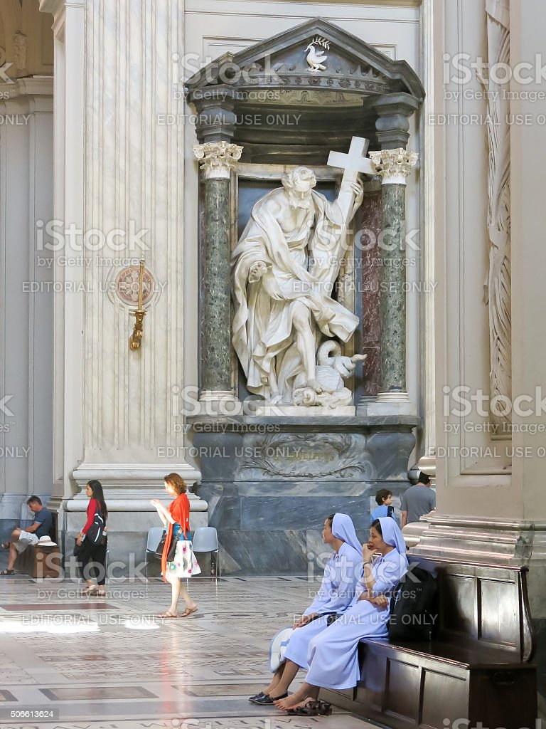 Archbasilica of St. John Lateran in Rome, Italy stock photo