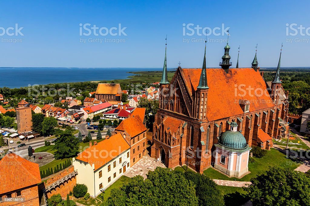 Archcathedral Basilica in Frombork, Poland stock photo