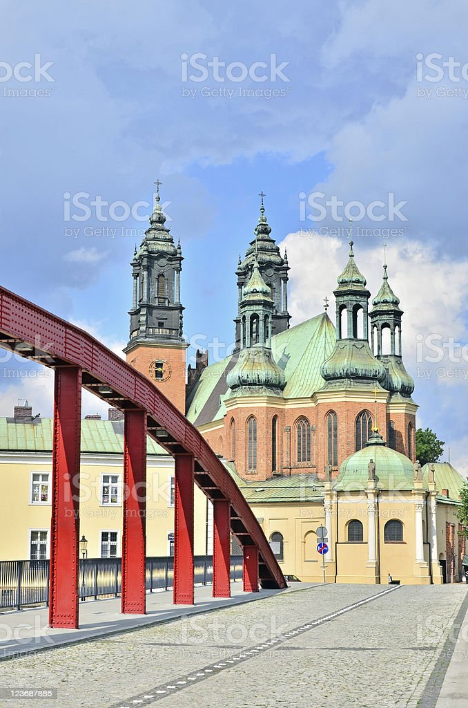 Archcathedral Basilica of St. Peter and Paul, Poznan, Poland stock photo