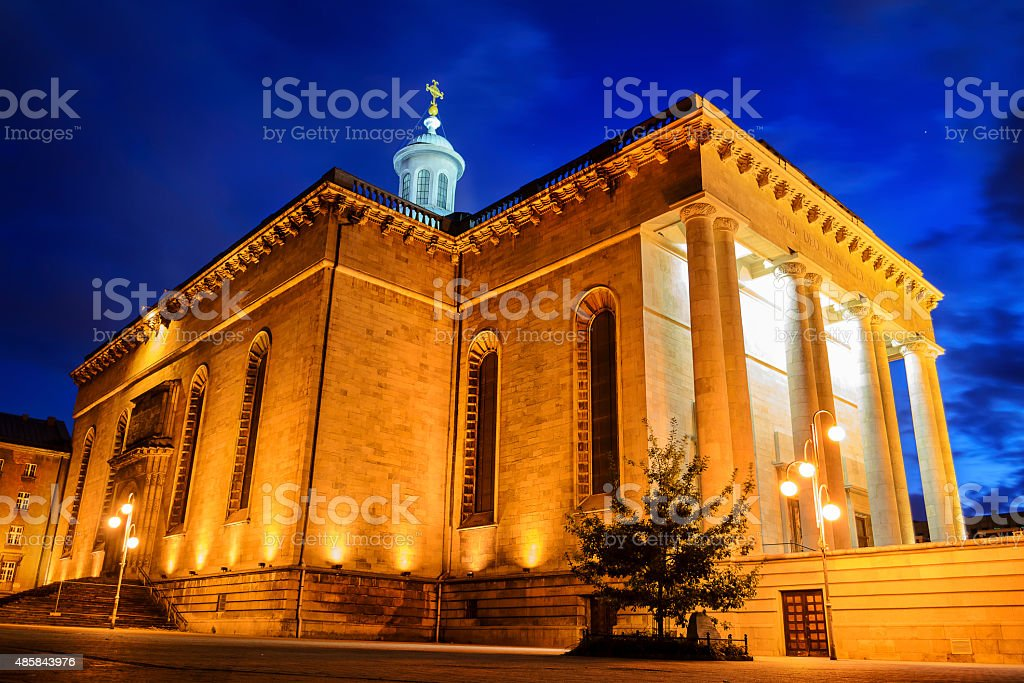 Archcathedral of Christ the King in Katowice stock photo