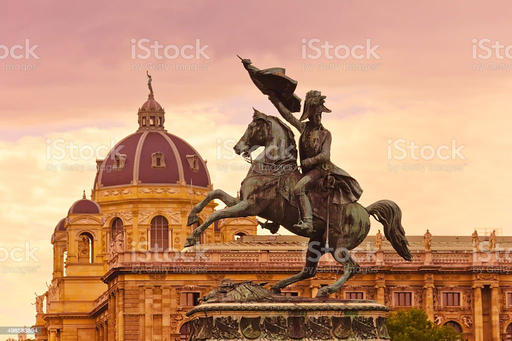 Erzherzog Karl memorial - Vienna Austria stock photo