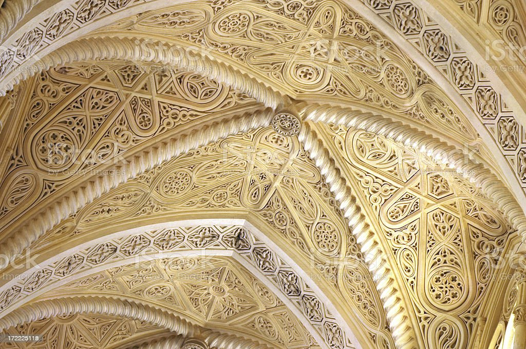 arched arabesque ceiling stock photo