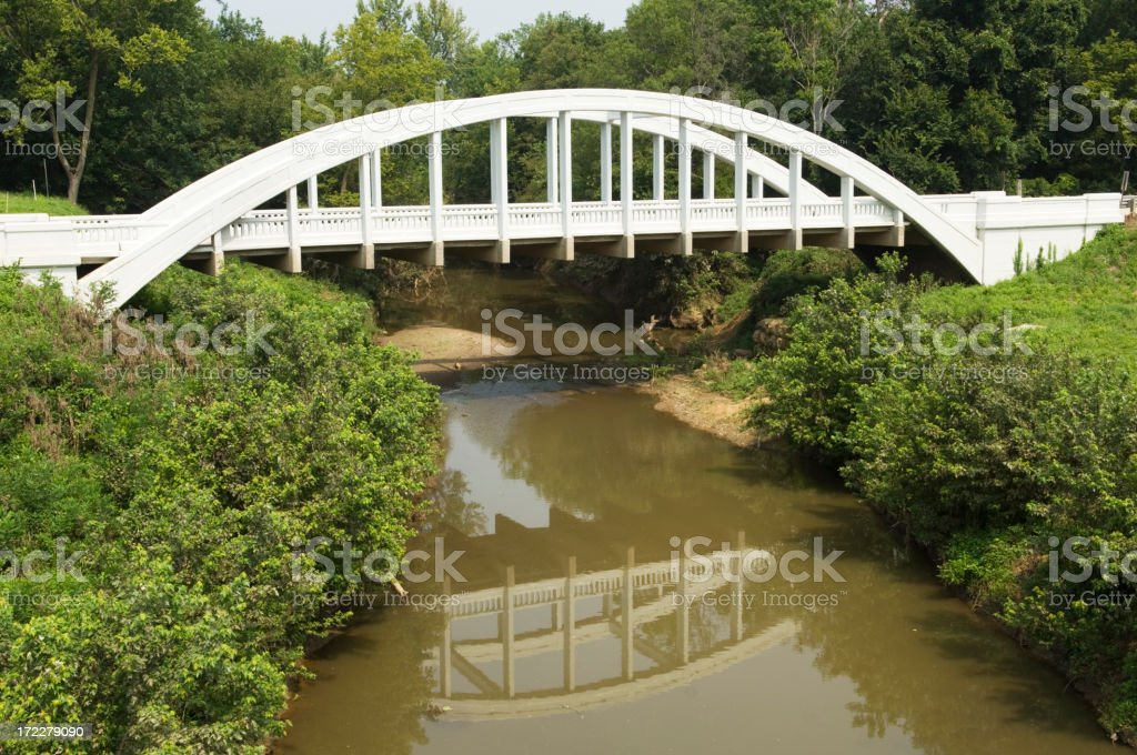 Arched Bridge on Route 66 in Kansas stock photo