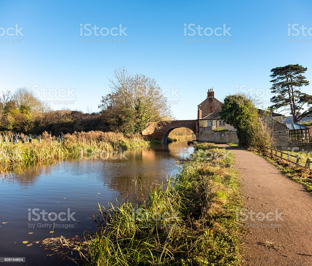 Arched Bridge Over A Canal stock photo