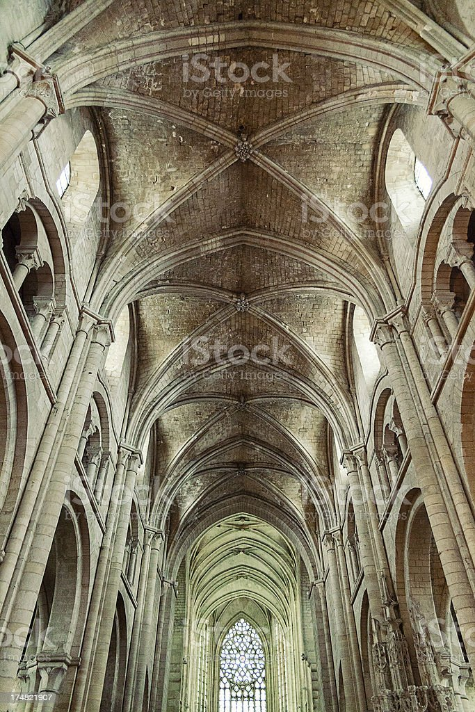 Arched Ceiling Of Saint-Etienne Church royalty-free stock photo
