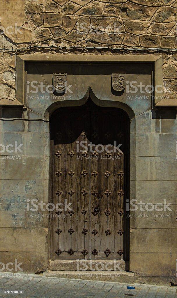 Łukowo sklepione drzwi zbiór zdjęć royalty-free