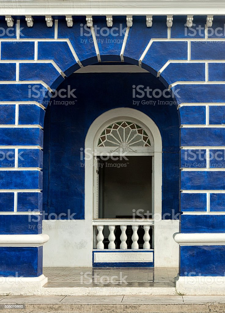 Arched entrance stock photo