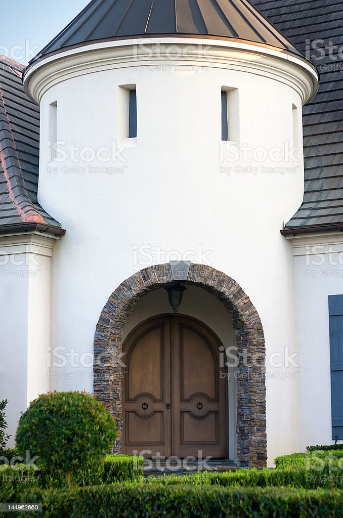 Arched Entryway to Upscale Home royalty-free stock photo