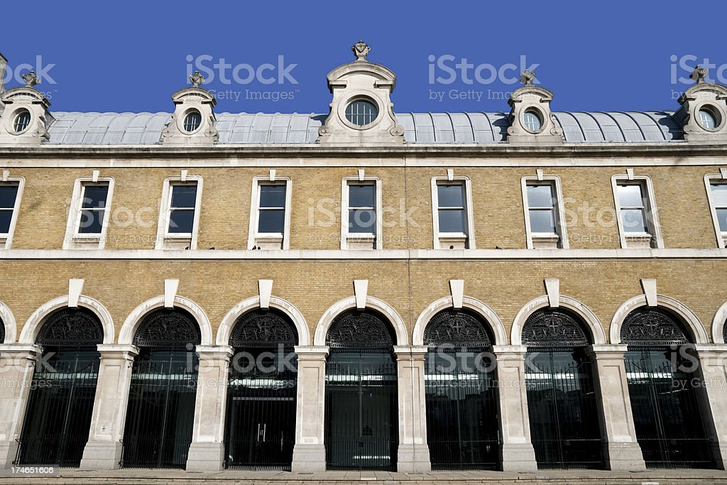 Arched facade - Old Billingsgate stock photo