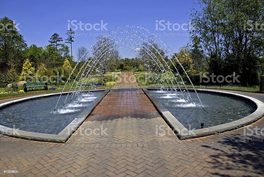 Arched Garden Fountain royalty-free stock photo