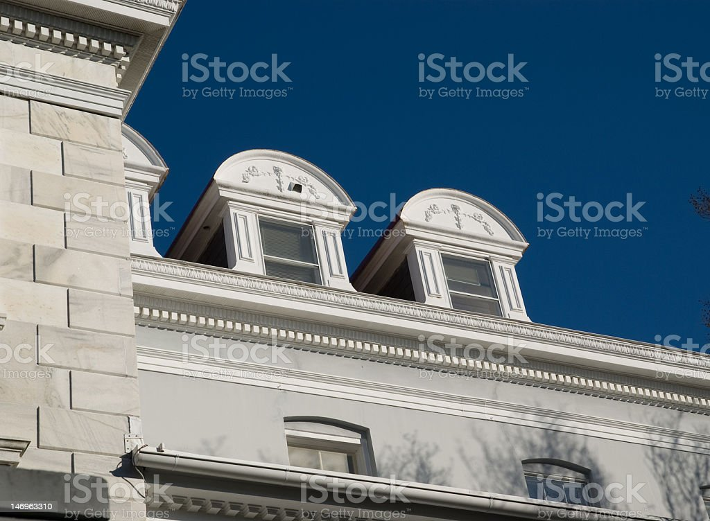 Arched Roofs and Windows royalty-free stock photo