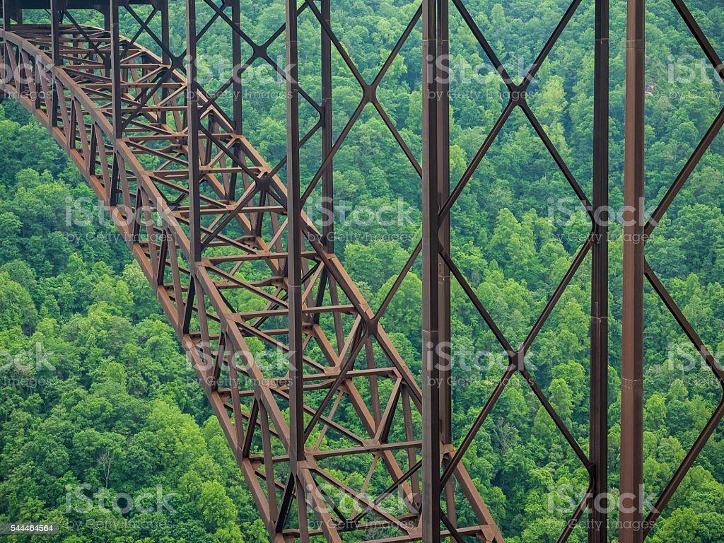 Arched Steel Bridge Detail stock photo