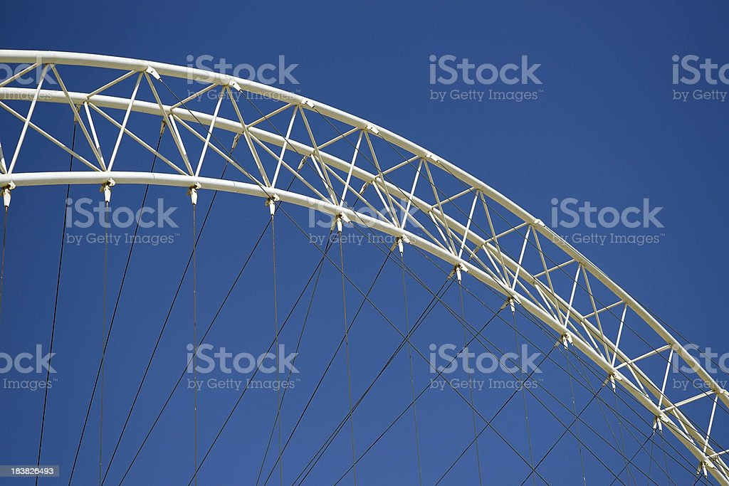 Arched Steel Structure stock photo