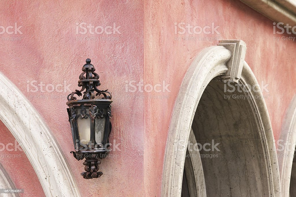 Arched Victorian Home Facade Architecture royalty-free stock photo