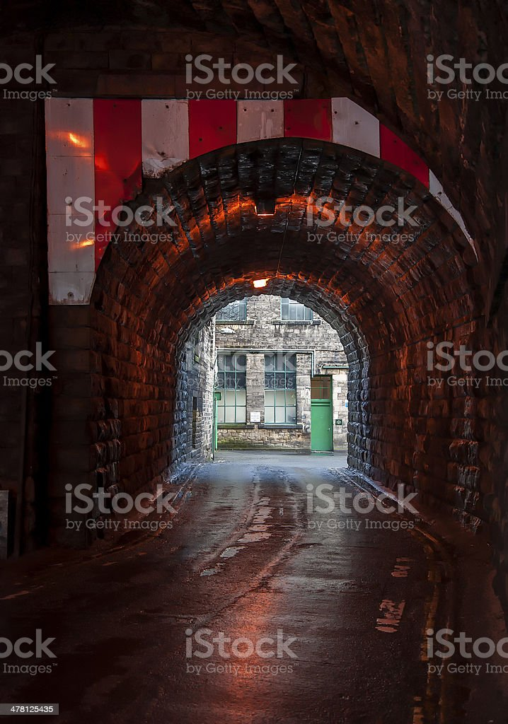 arched victorian road tunnel stock photo