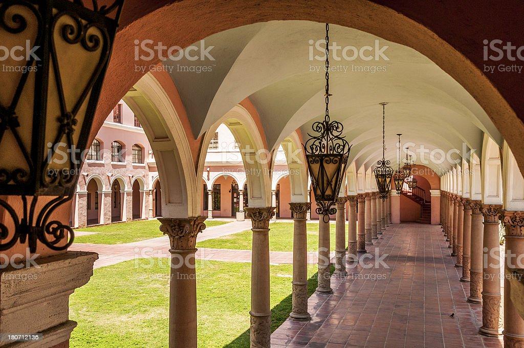 Arched Walkway, City Hall, Tucson, AZ royalty-free stock photo