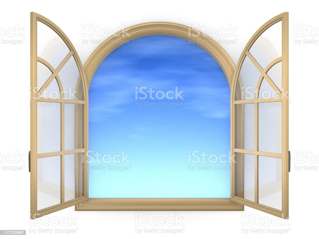Arched Window royalty-free stock photo