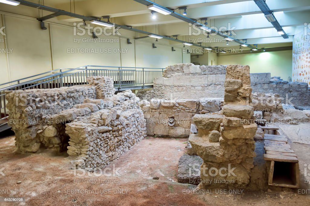 Archeological Findings At Metro Station, Athens, Greece stock photo