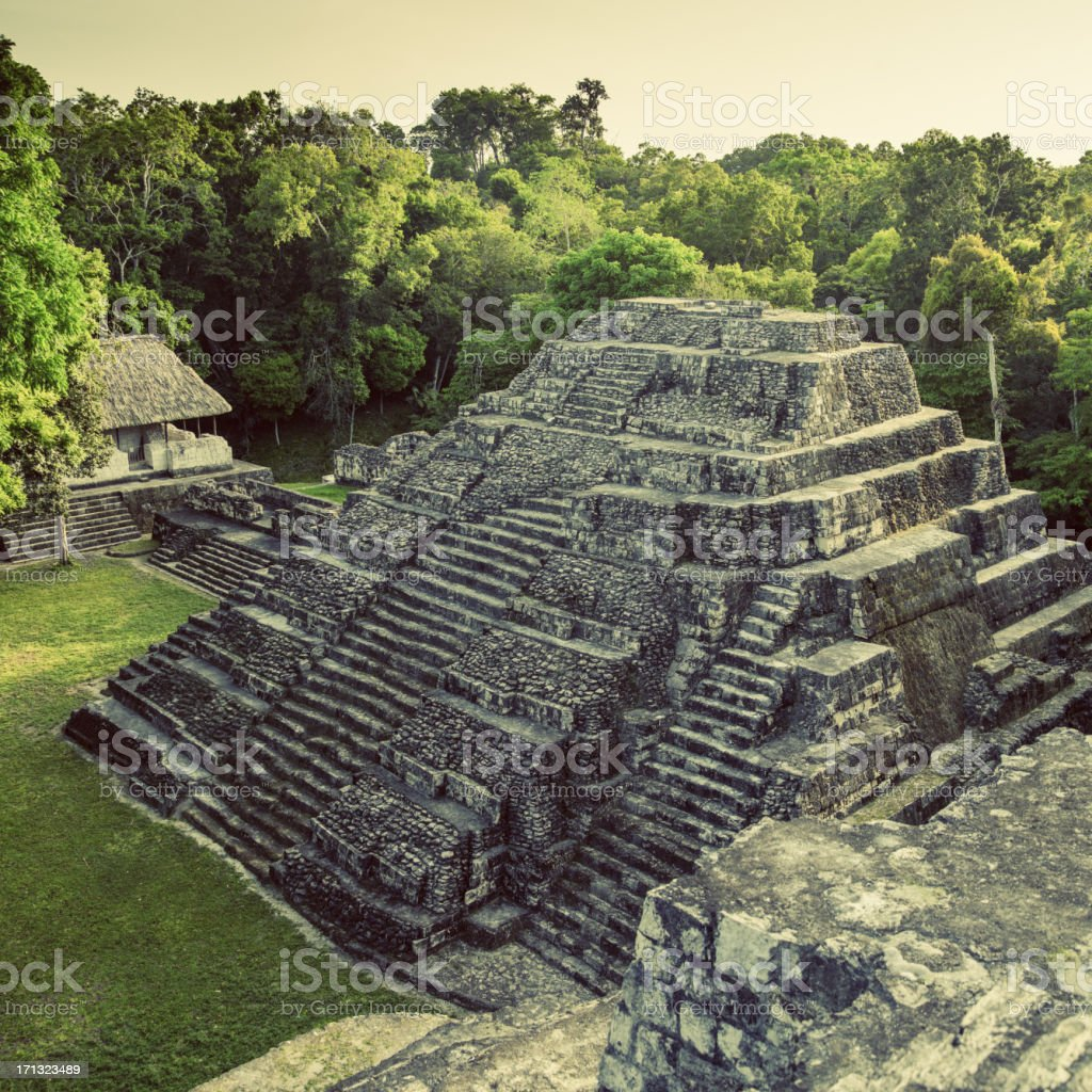 archeological site in guatemala stock photo