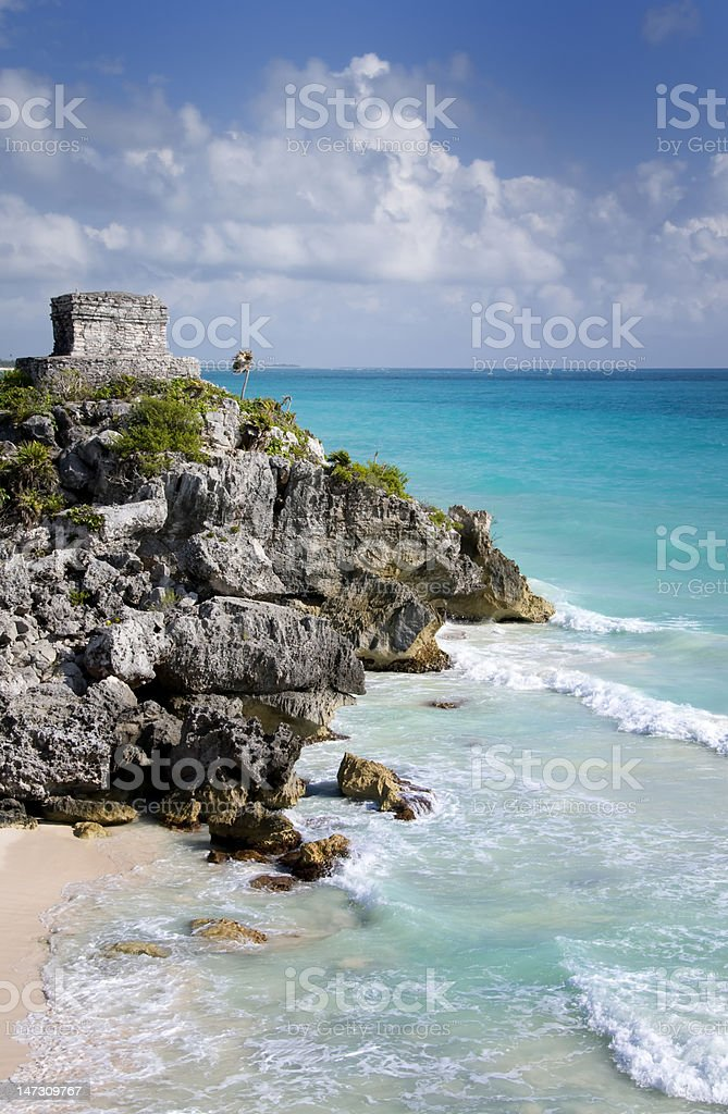 Archeological site of Tulum stock photo