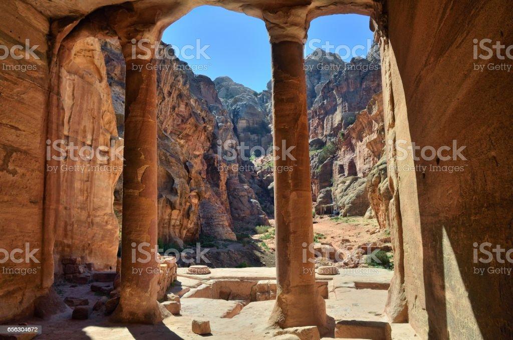 Archeological site Petra, Jordan stock photo
