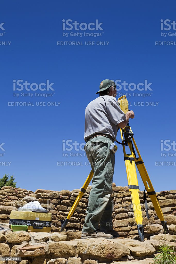Archeological Survey at Mesa Verde National Park, Colorado stock photo