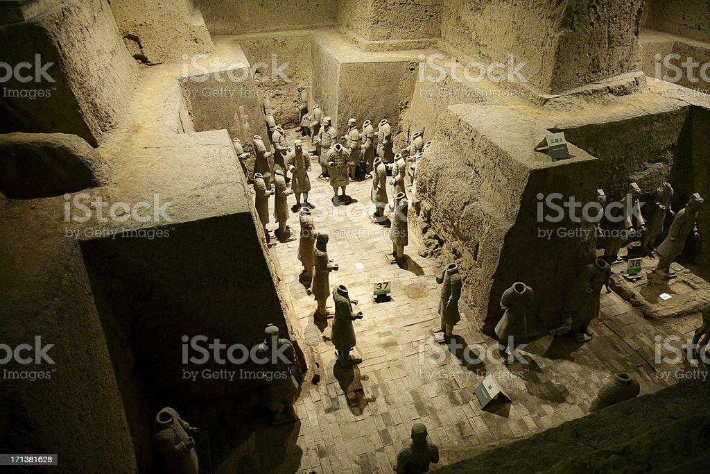 Archeological treasure in China royalty-free stock photo