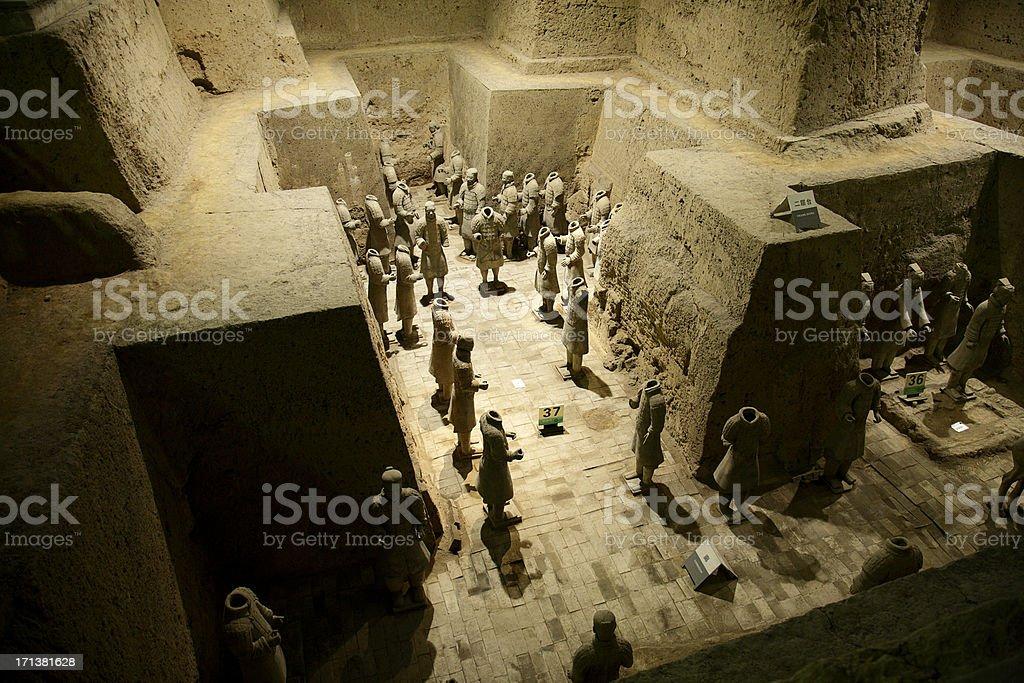 Archeological treasure in China stock photo