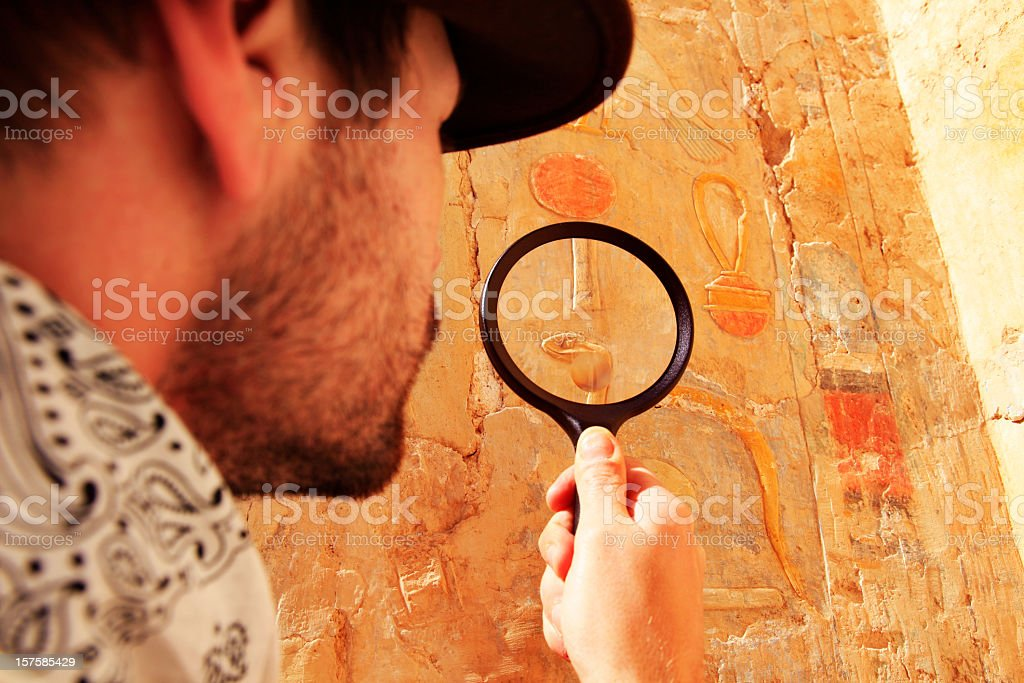 Archeologist royalty-free stock photo