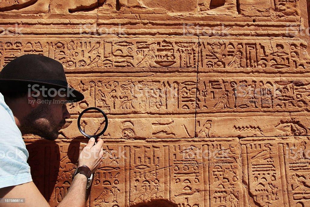 Archeologist stock photo