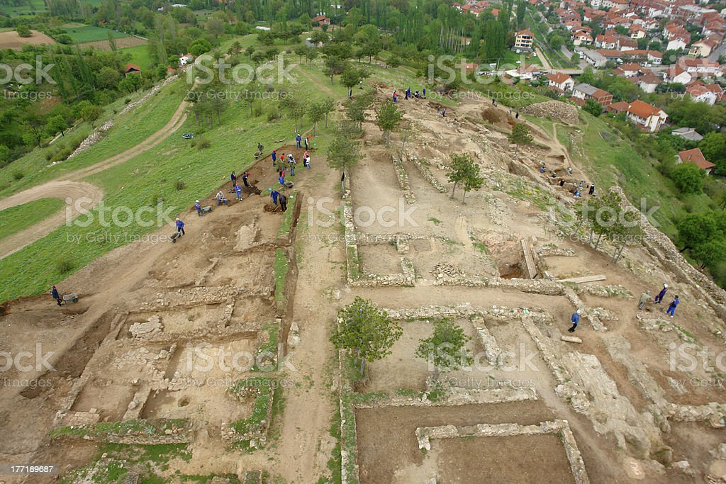 Archeology dig site in Vinica, Macedonia royalty-free stock photo