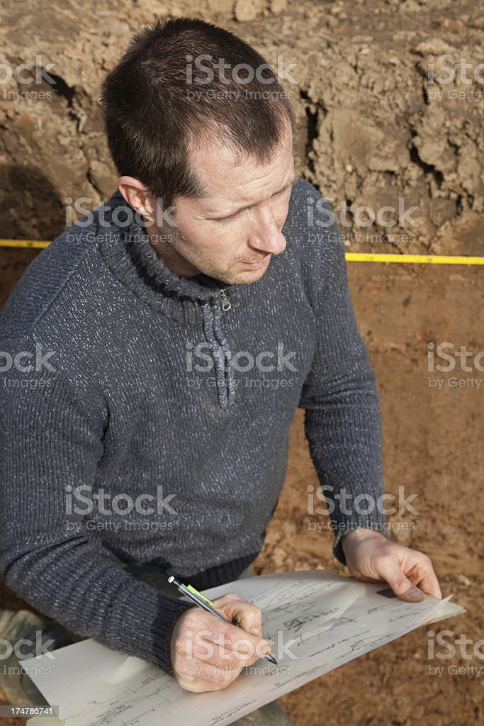 Archeology in the field royalty-free stock photo