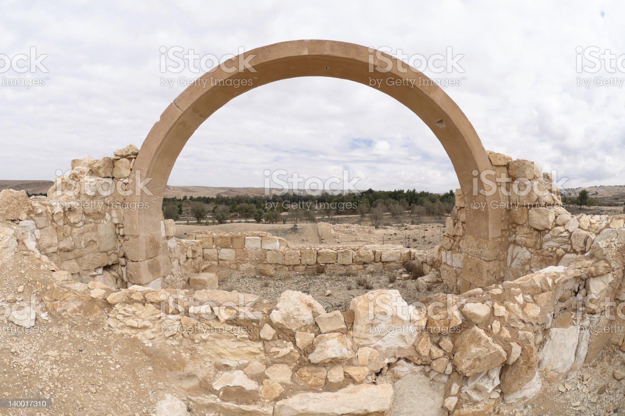 Archeology site at Yeruham royalty-free stock photo