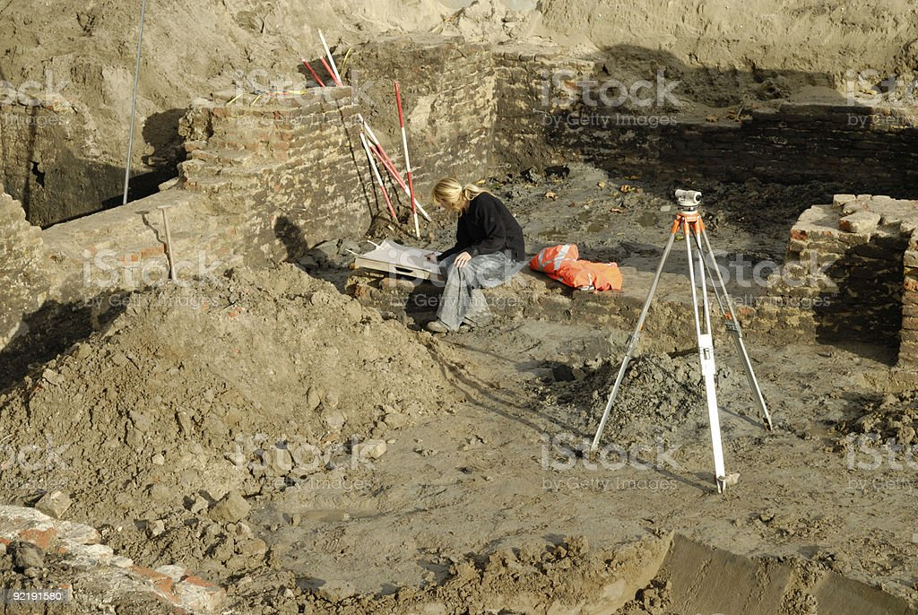 Archeology site stock photo