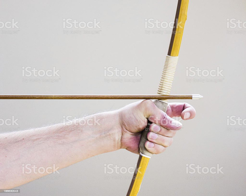 Archer aiming for the Target royalty-free stock photo