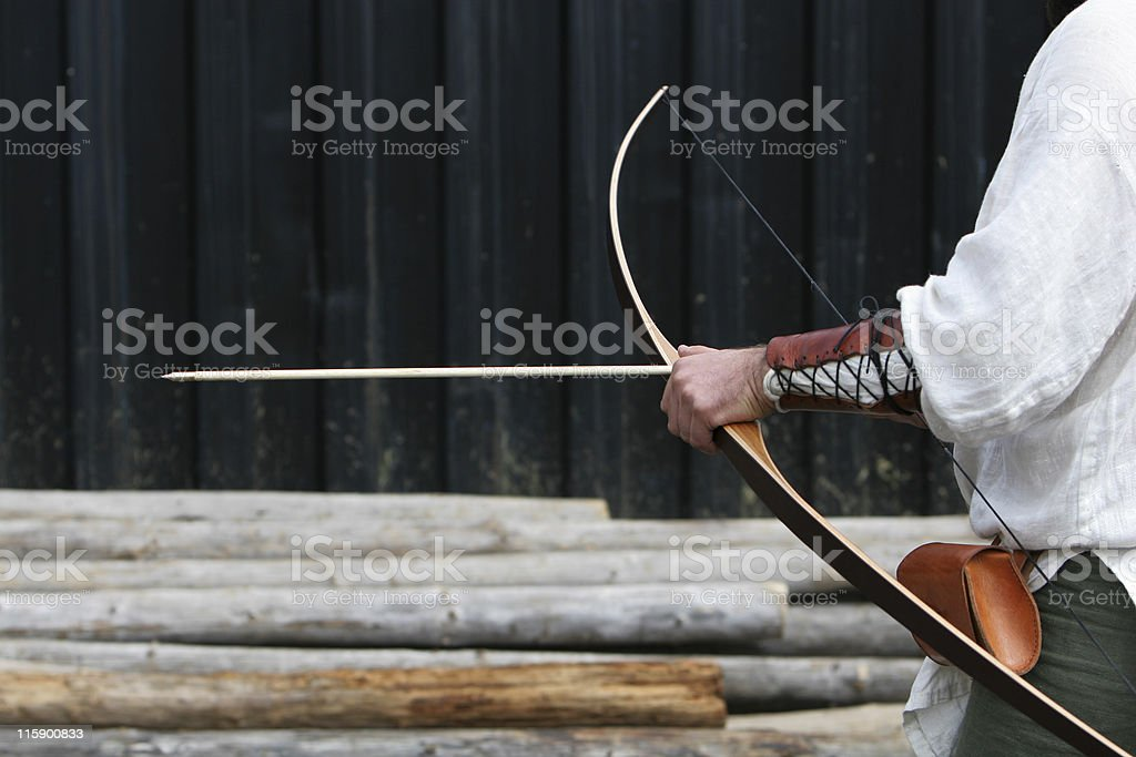 archer getting ready royalty-free stock photo