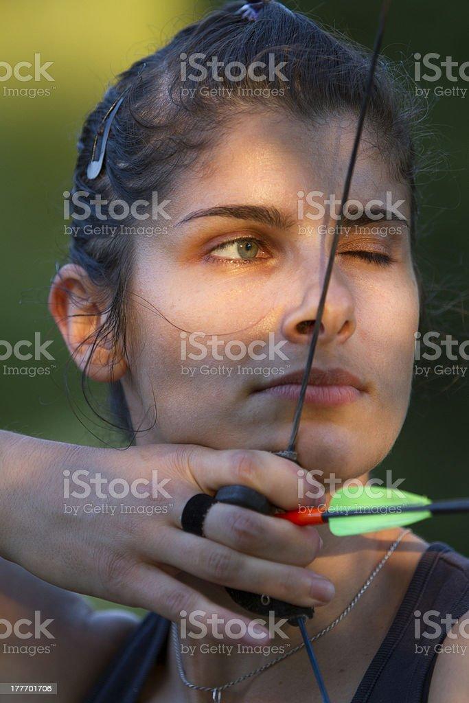 archer girl stock photo