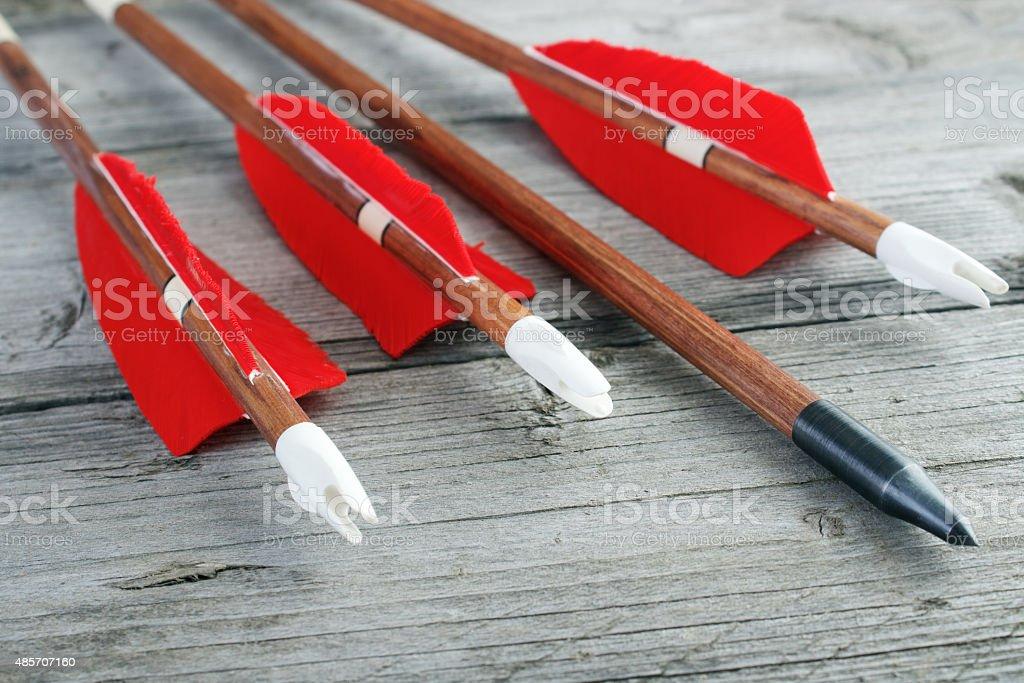 Archery arrows stock photo